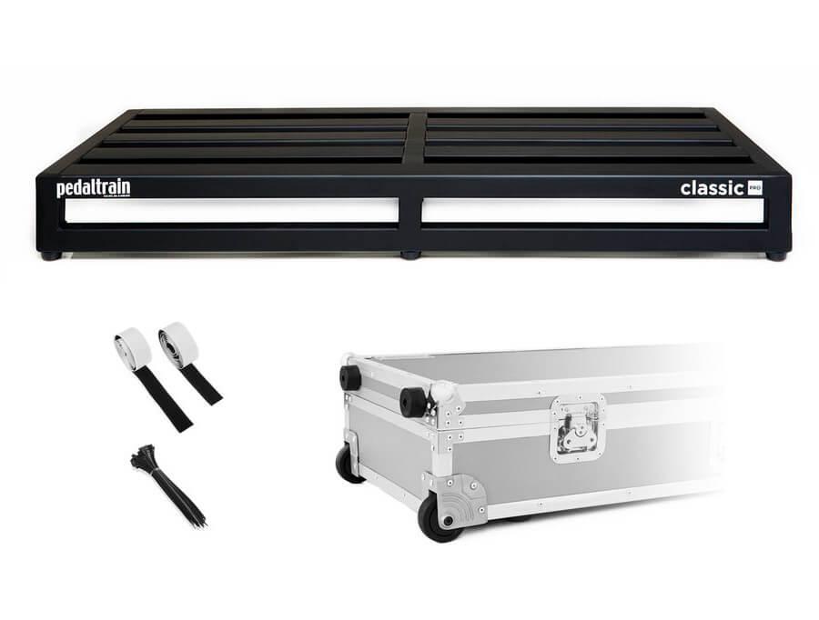 Pedaltrain Classic Pro TCW pedalboard med kasse med hjul