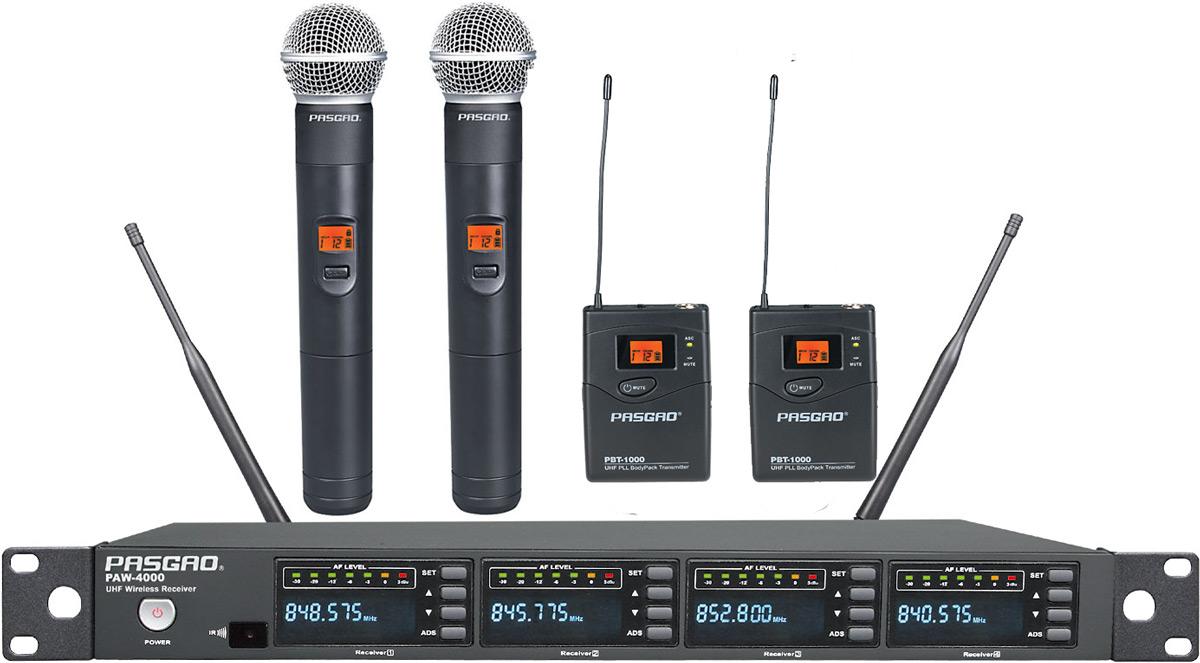 Pasgao PAW-4000-PAH-1200-PBT-1000(584-607MHz) trådløstsæt