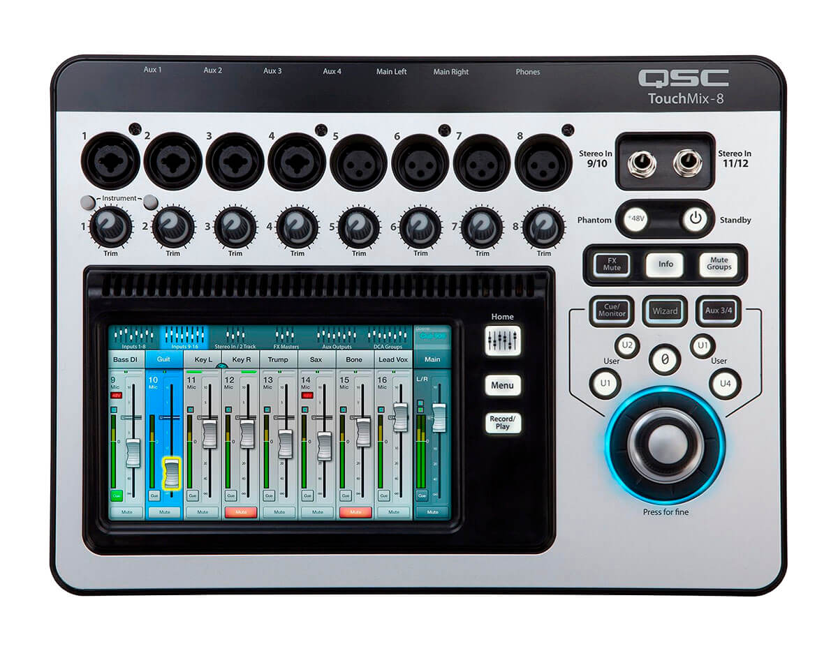 QSC TM8TouchMix digitalmixer