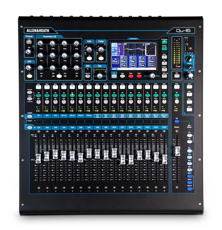 Allen & Heath QU-16-Chrome digitalmixer