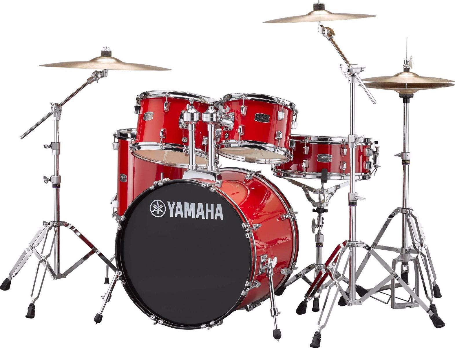 Billede af Yamaha Rydeen RDP0F5 RD + HW680W + Paiste 101 komplet trommesæt hot red
