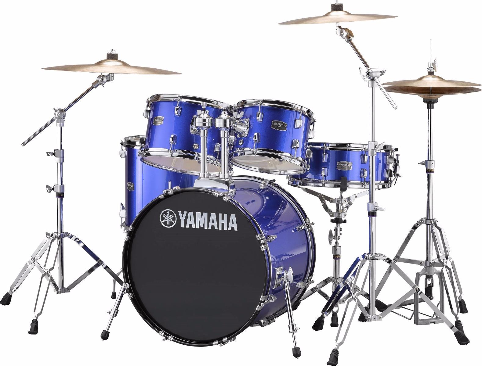 Yamaha Rydeen RDP0F5 FB + HW680W + Paiste 101 komplet trommesæt fine blue
