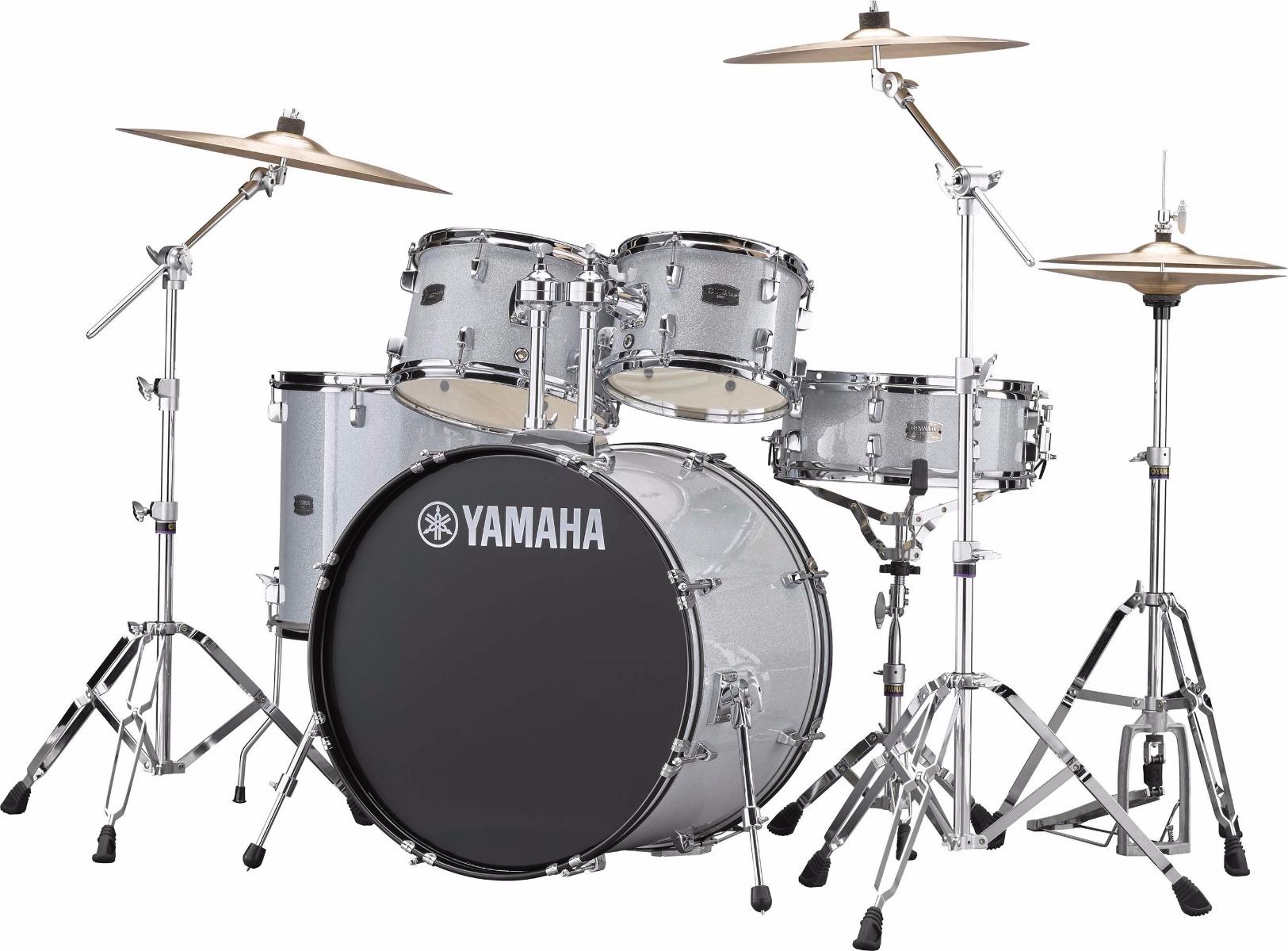 Yamaha Rydeen RDP0F5 SLG + HW680W + Paiste 101 komplet trommesæt silver glitter