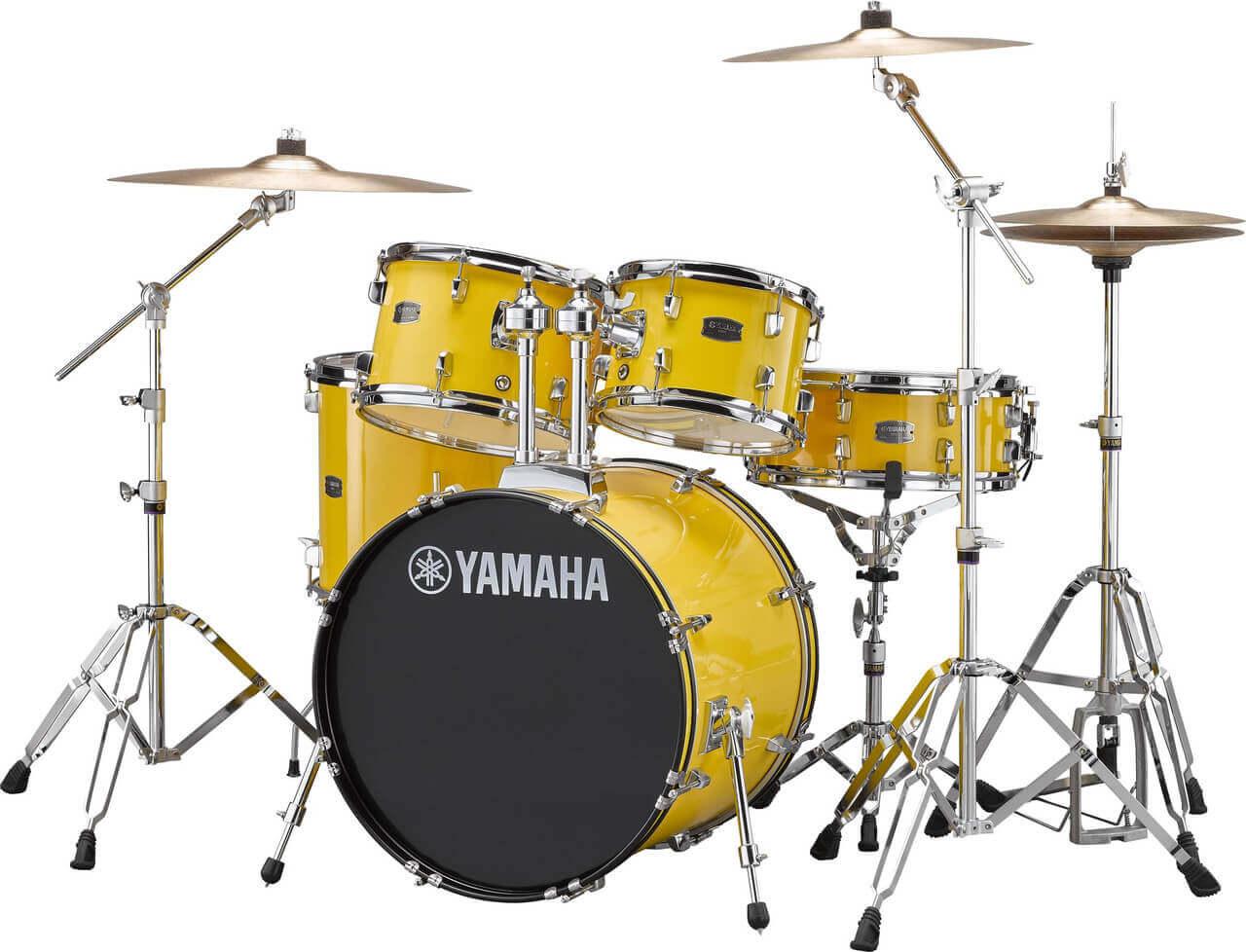 Yamaha Rydeen RDP0F5 YL + HW680W + Paiste 101 komplet trommesæt Mellow Yellow