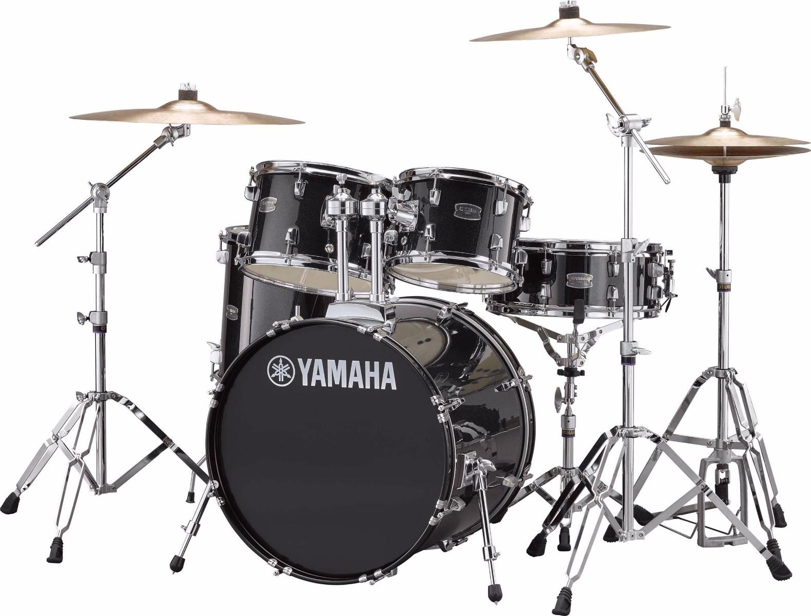 Yamaha Rydeen RDP0F5 BLG + HW680W + Paiste 101 komplet trommesæt Black Glitter