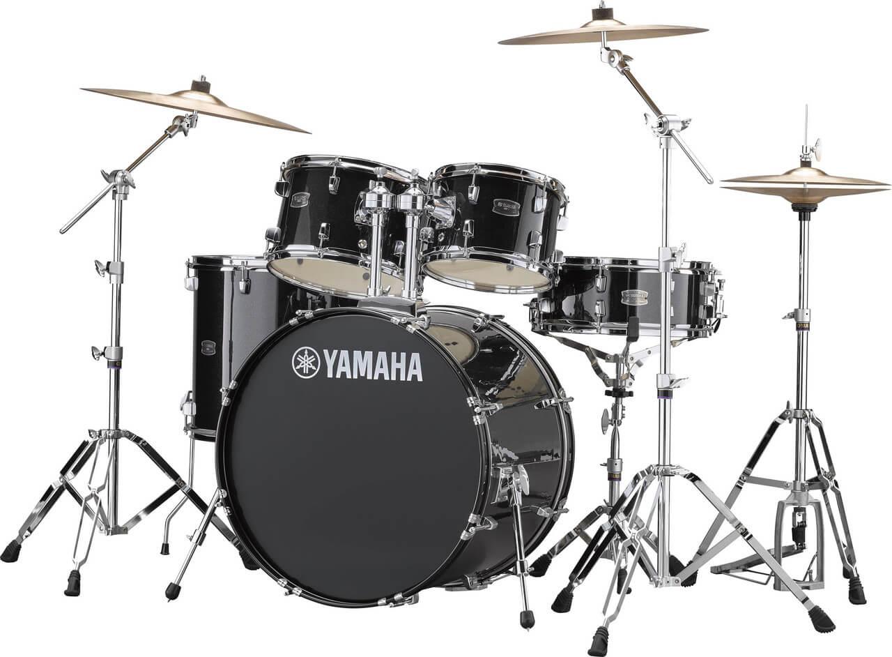 Yamaha Rydeen RDP2F5 BLG + HW680W + Paiste 101 komplet trommesæt Black Glitter