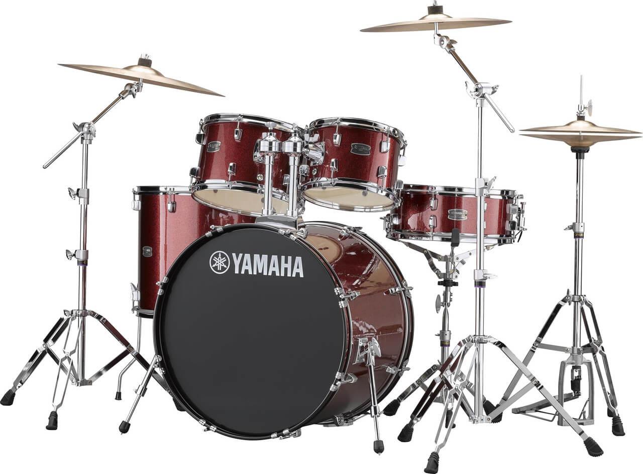 Yamaha Rydeen RDP2F5 BGG + HW680W + Paiste 101 komplet trommesæt burgandy glitter