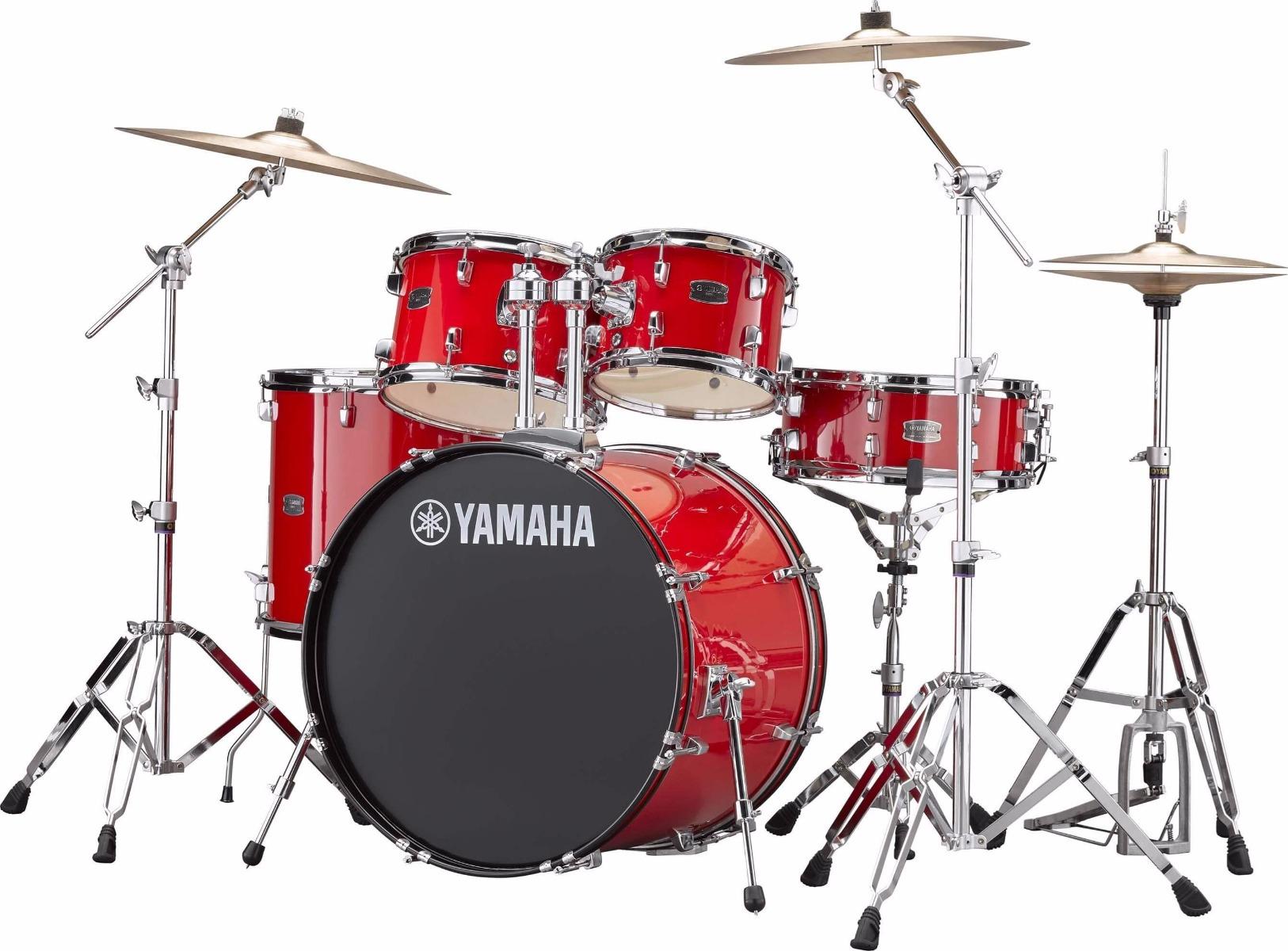 Yamaha Rydeen RDP2F5 RD + HW680W + Paiste 101 komplet trommesæt hot red