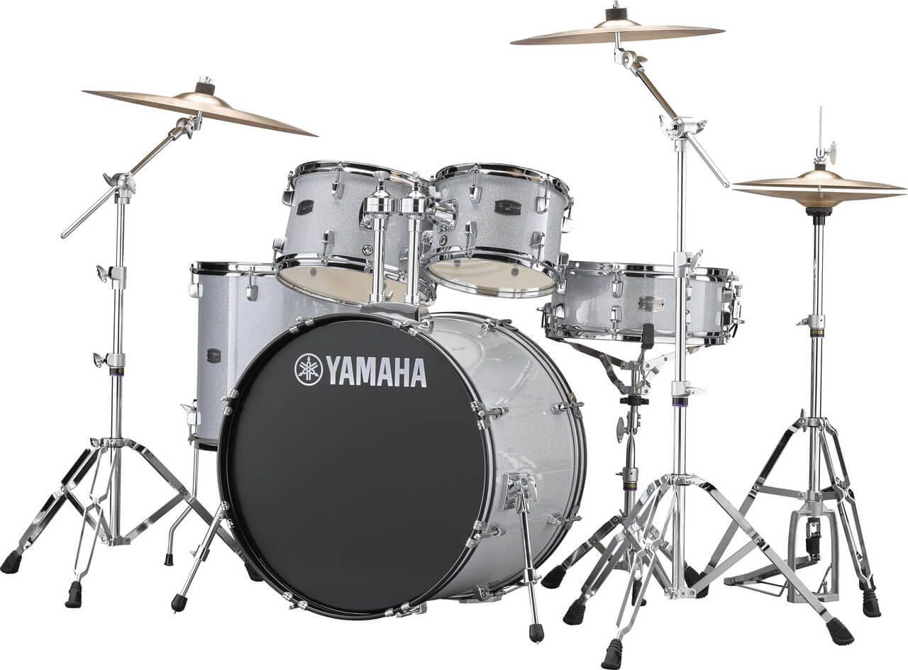 Yamaha Rydeen RDP2F5 SLG + HW680W + Paiste 101 komplet trommesæt silver glitter
