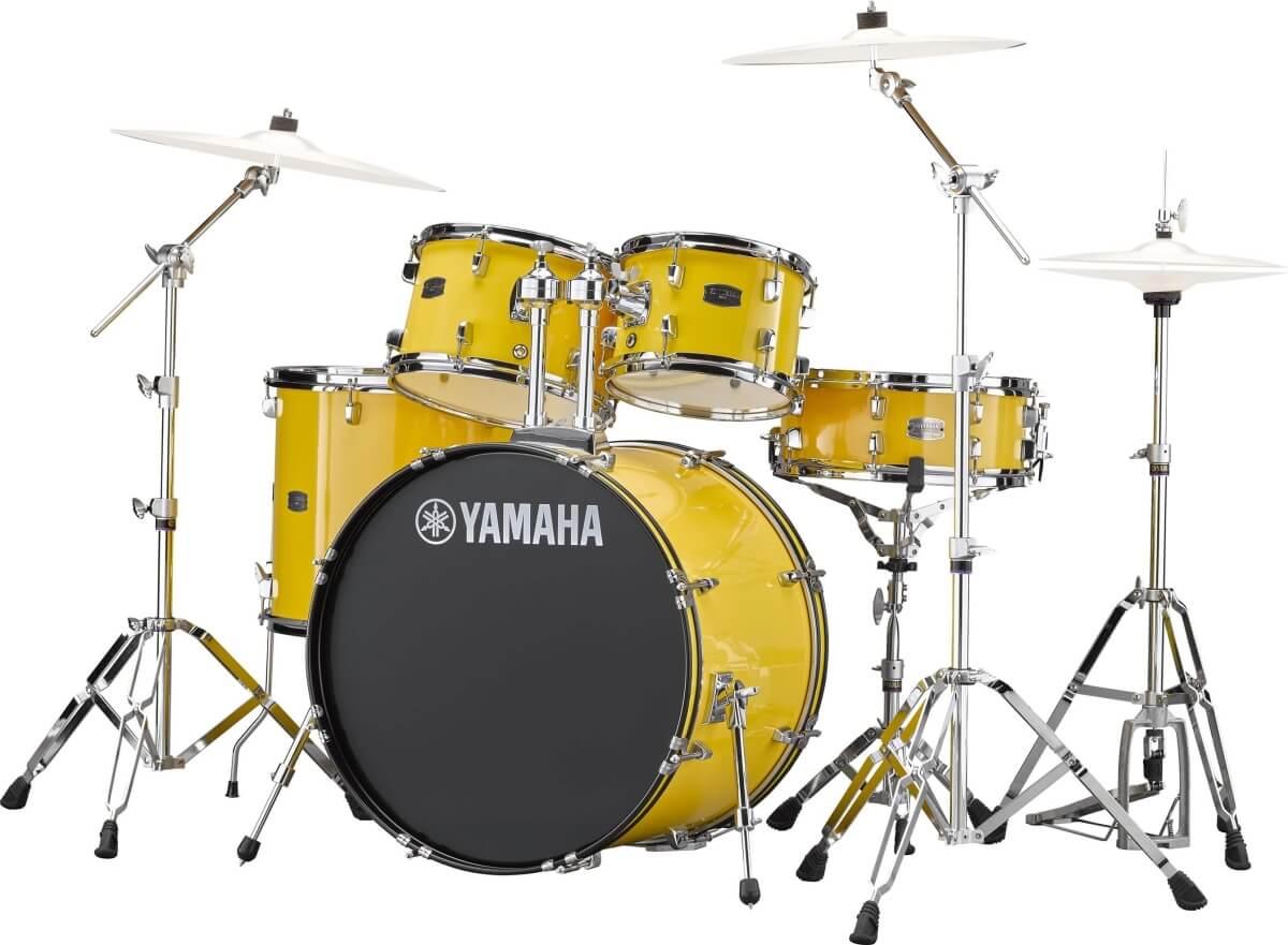 Yamaha Rydeen RDP2F5 YL + HW680W + Paiste 101 komplet trommesæt Mellow Yellow