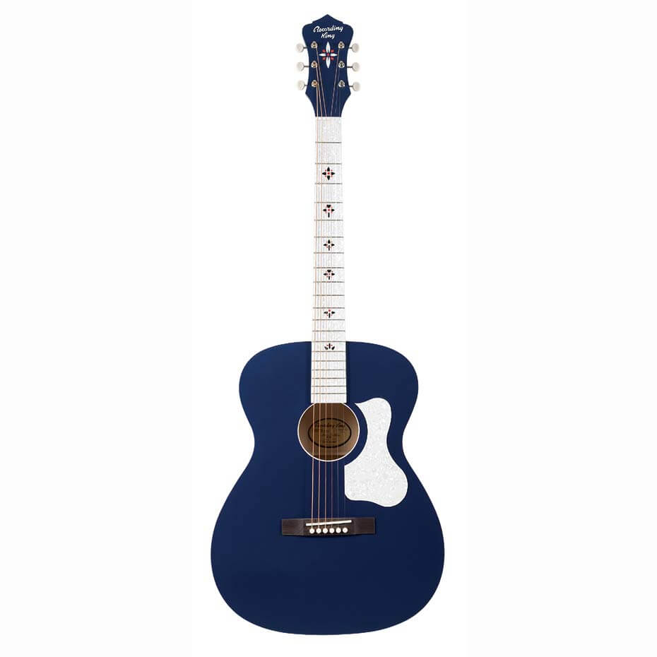 Recording King ROC-9 MBL western-guitar wabash blue