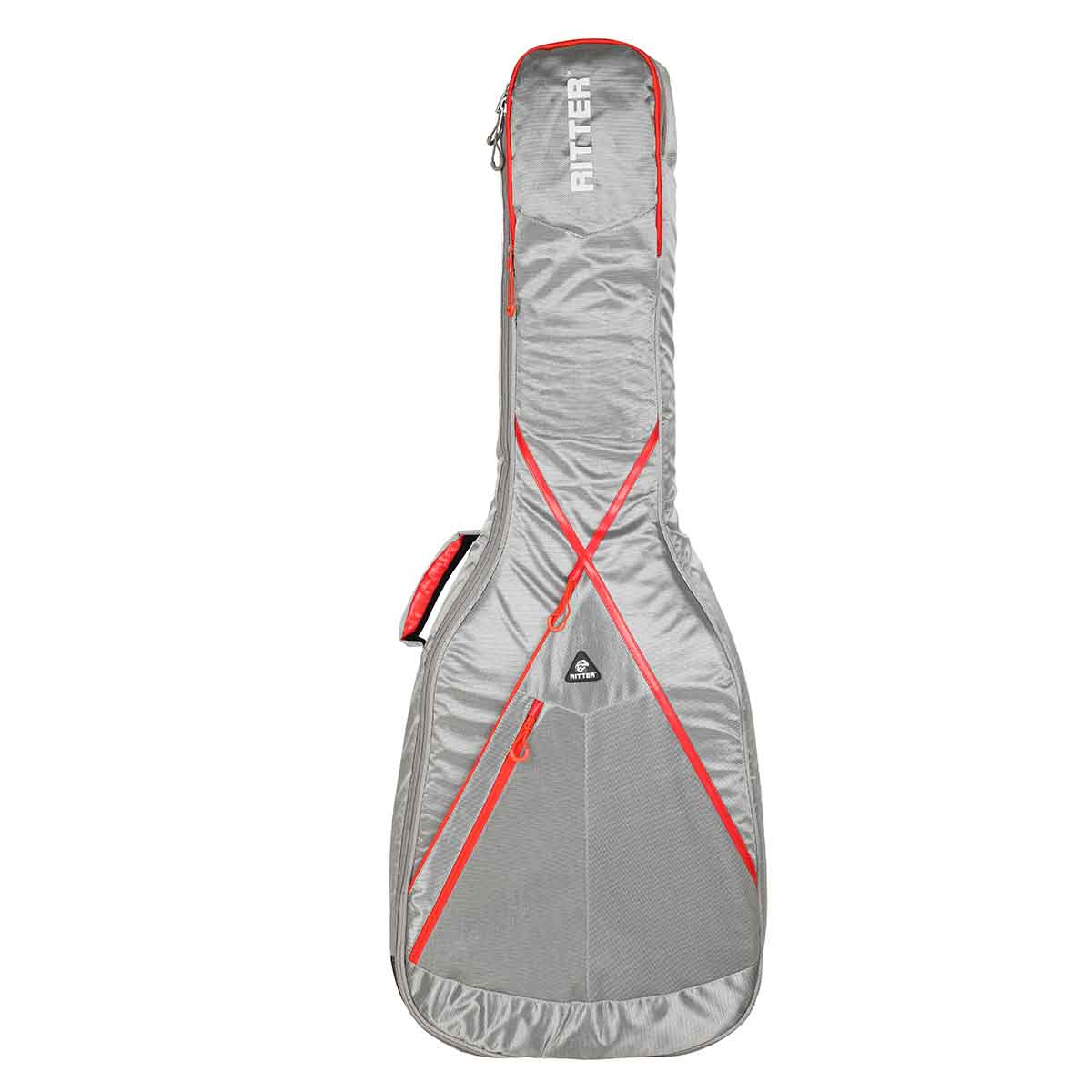 Ritter RGP8-AB/SGR taske til akutisk basguitar silvergrey / red thumbnail