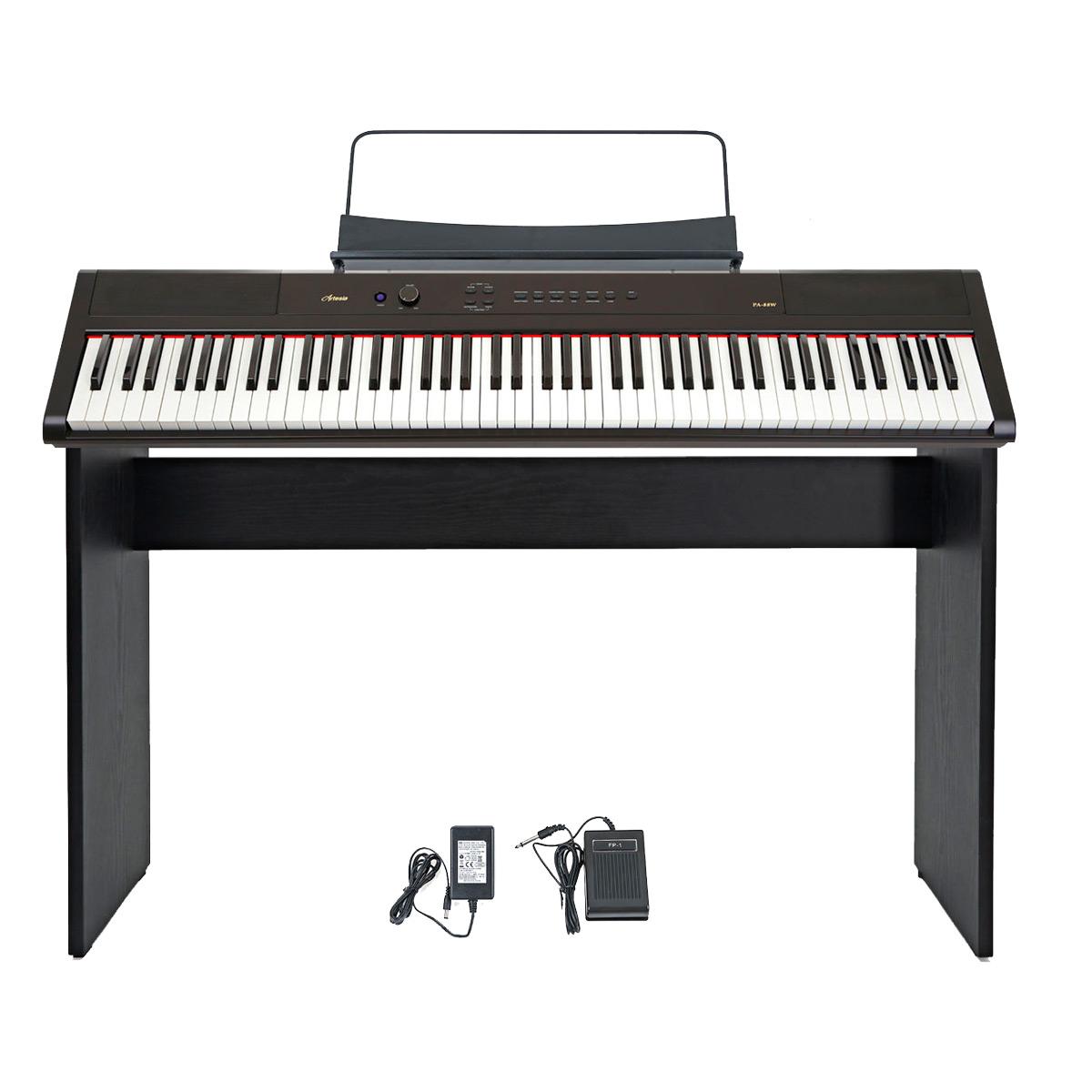 Image of   Artesia PA-88W + ST1 el-klaver med ben
