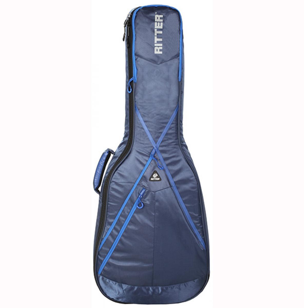 Ritter RGP8-D/NRB taske til western-guitar blå