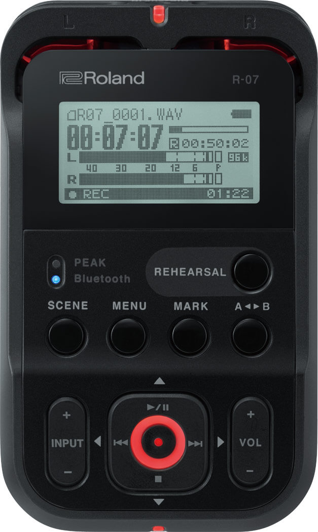 Roland R-07 BK handy audio recorder