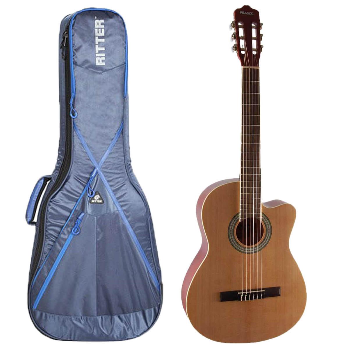 Sant Guitars CL-62-NA spansk guitar med taske