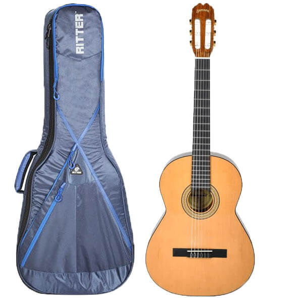 Santana 8A spansk guitar med taske