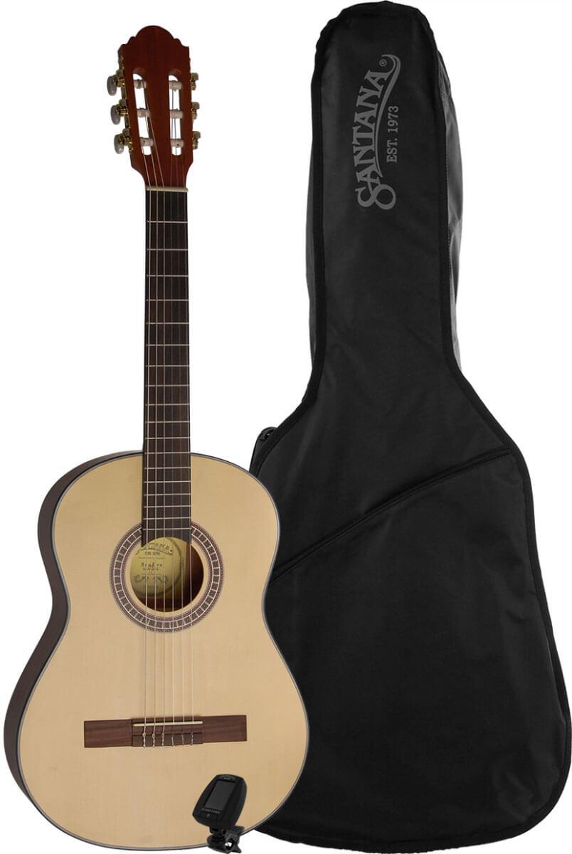 Santana B7S PACK børne spansk-guitar, pakkeløsning satin