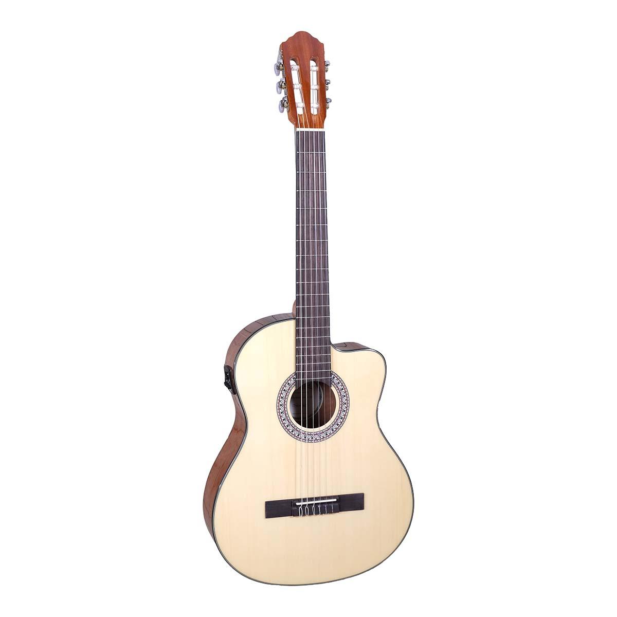 Santana B8 EQCW NA v2 spansk-guitar natur