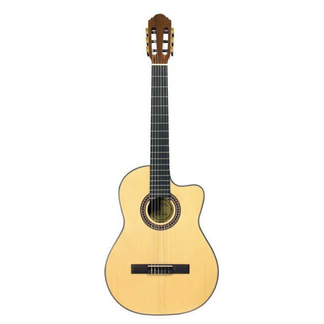 Santana B8EQCWNA-V2-LEFT venstrehånds spansk guitar nature