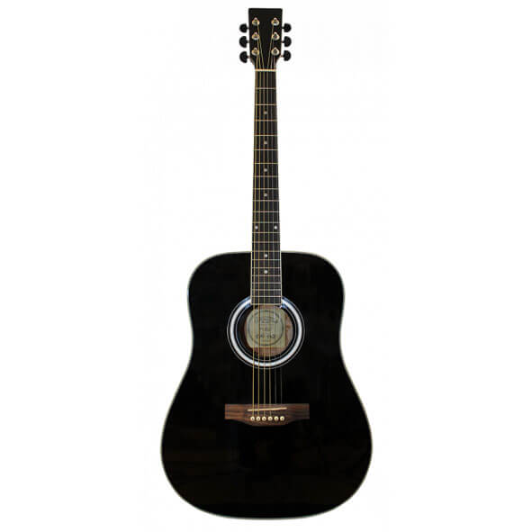 Santana LA90BK western-guitar sort