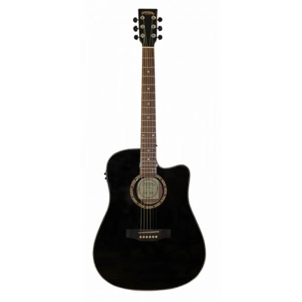 Image of   Santana LA90BKCWEQ western-guitar sort