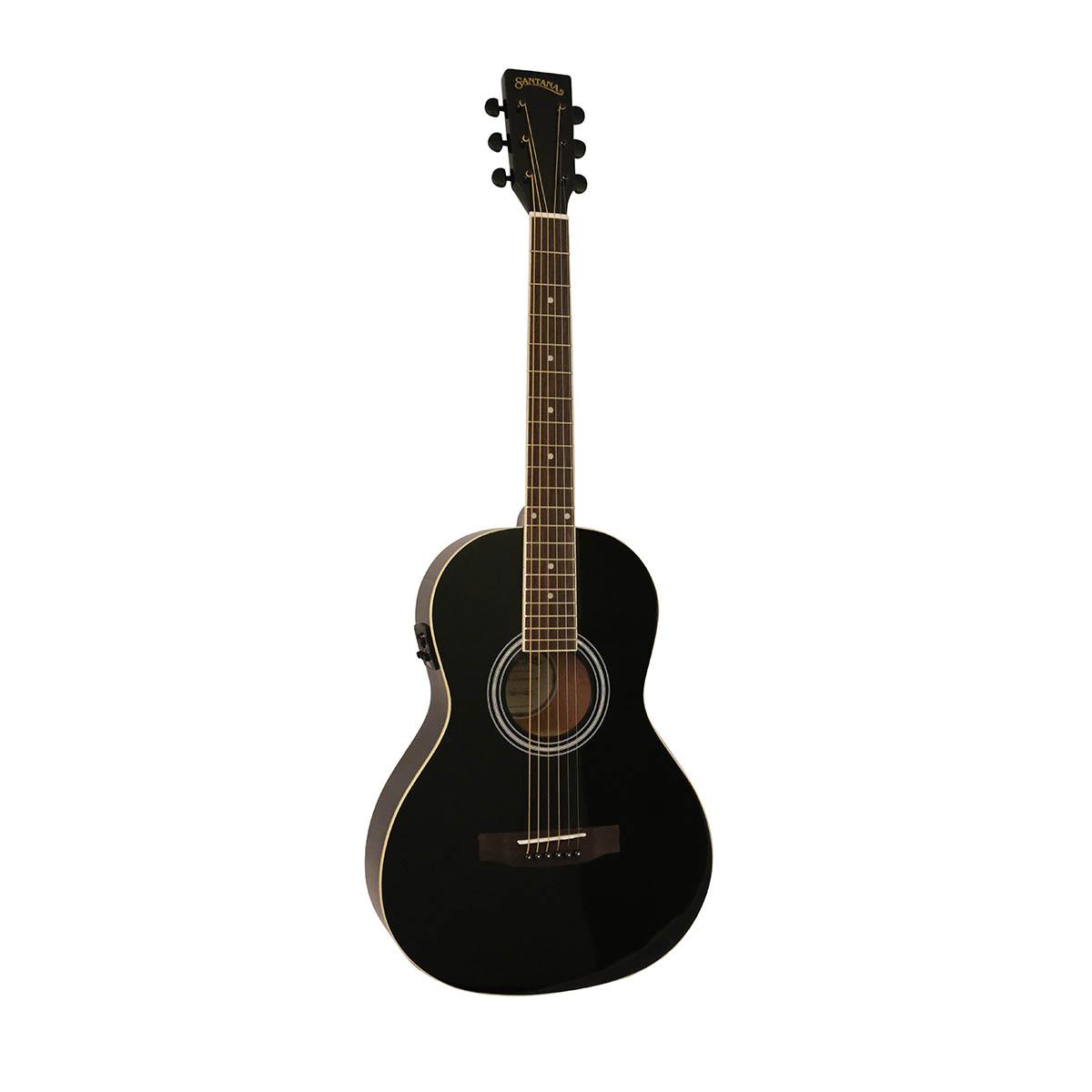 Santana ST-100EQ HG PL BK v2 Parlour western-guitar sort