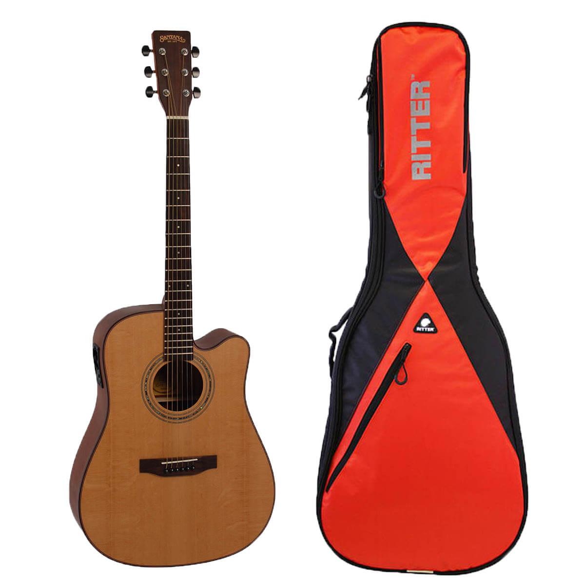 Image of   Santana ST-200CWPRESYS western-guitar med taske