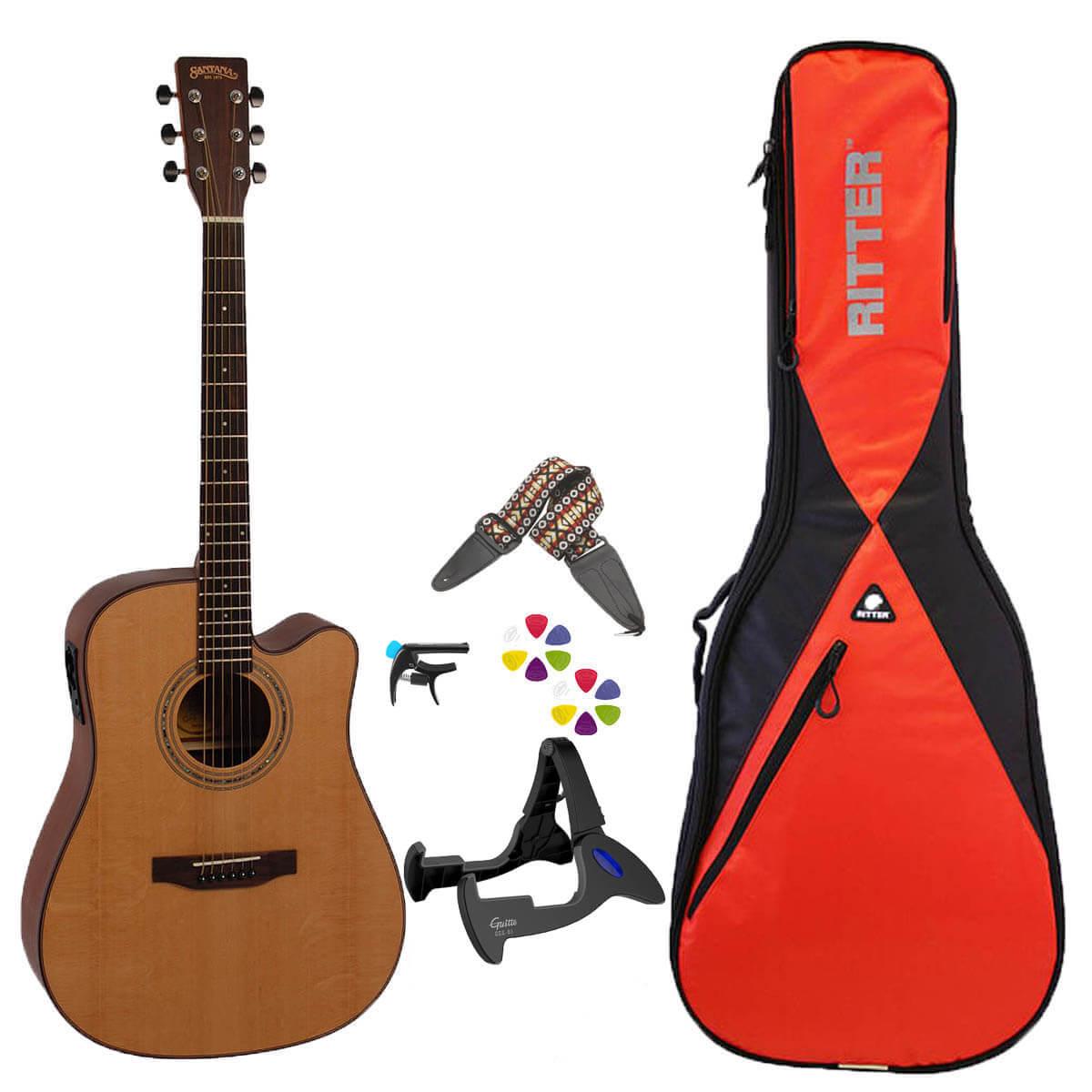 Image of   Santana Western-guitar pakke