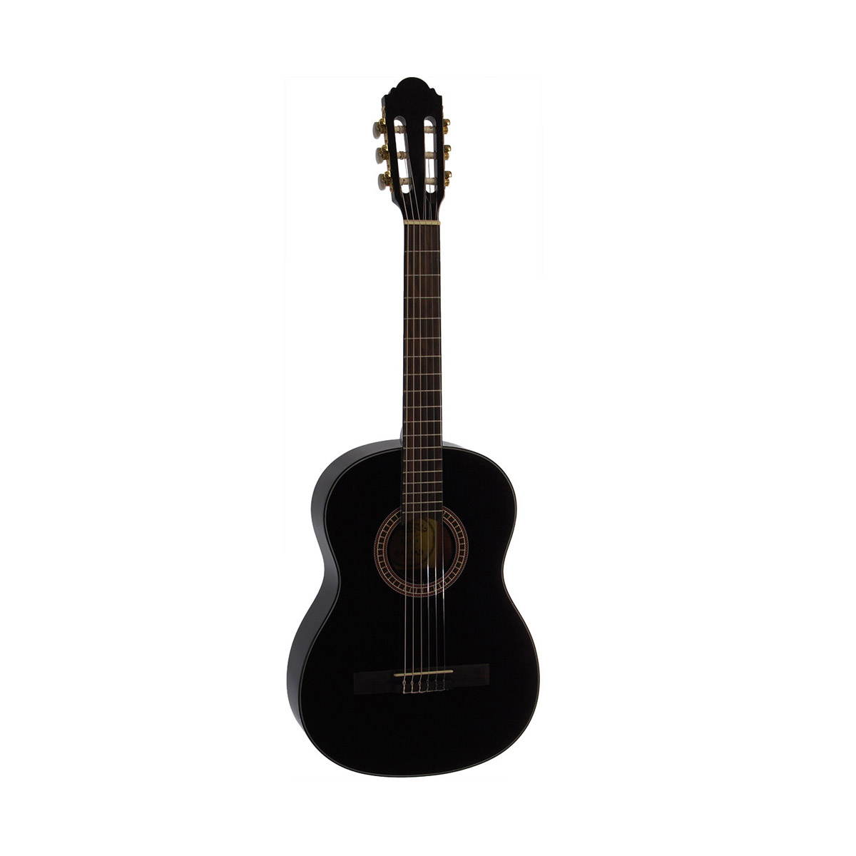 Santana B7 BK v2 børne spansk-guitar sort