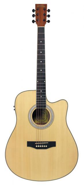 Image of   Santana LA-90EQCW-NT v2 western-guitar nature