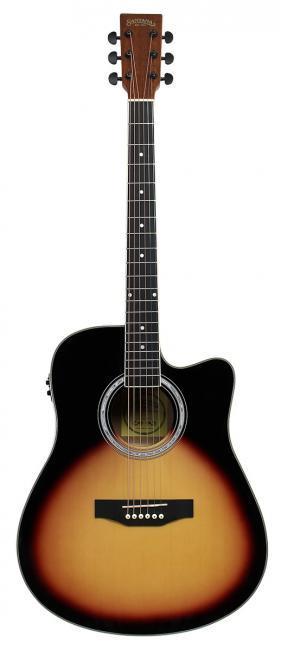 Image of   Santana LA-90EQCW-SB v2 western-guitar sunburst