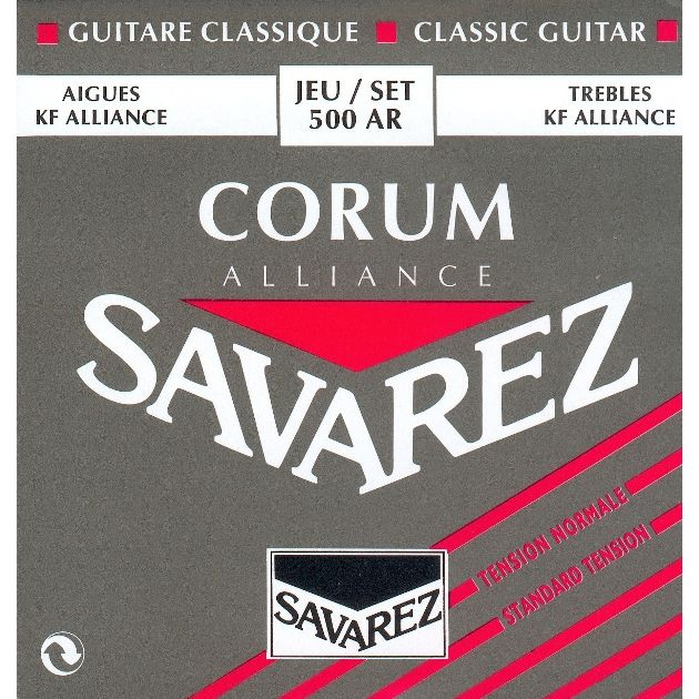 Image of   Savarez 500AR Alliance Corum spansk guitar-strenge, rød