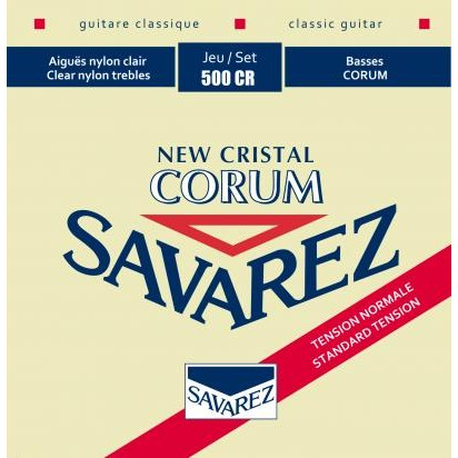 Image of   Savarez 500CR New Corum spansk guitar-strenge, rød