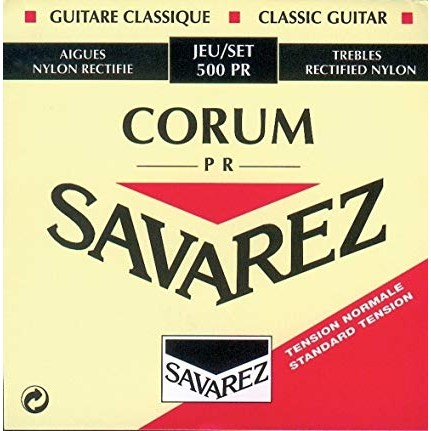 Image of   Savarez 500PR Corum spansk guitar-strenge,rød