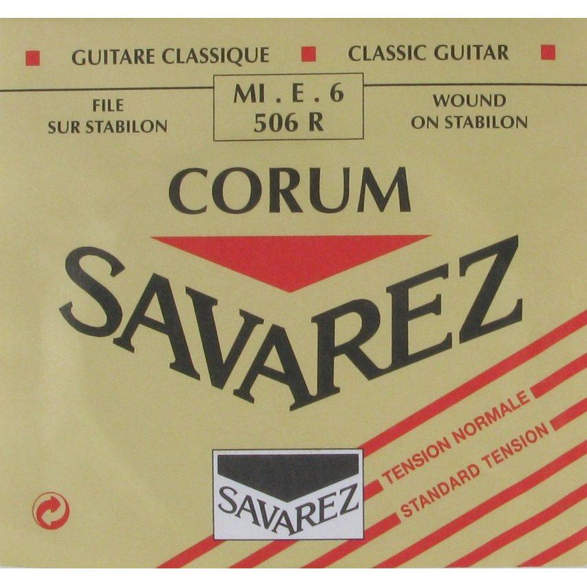 Image of   Savarez 506R Corum E6 løs spansk guitar-streng, rød