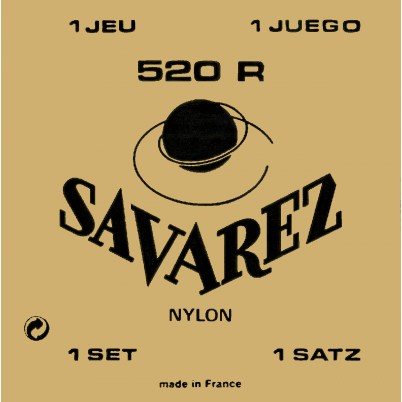 Image of   Savarez 520R spansk guitar-strenge, rød