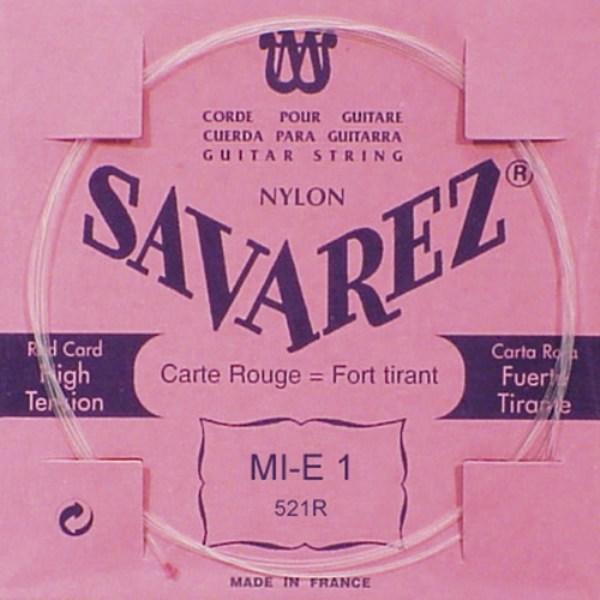 Image of   Savarez 521R E1 løs spansk guitar-streng, rød