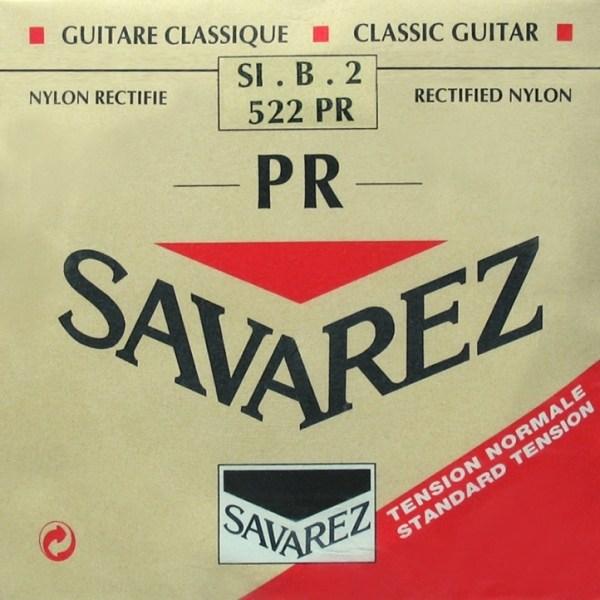 Image of   Savarez 522PR H2 løs spansk guitar-streng, rød