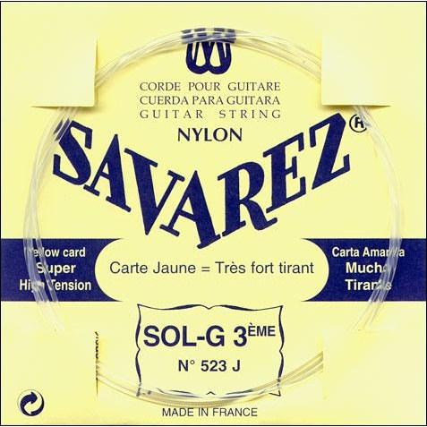 Image of   Savarez 523J G3 løs spansk guitar-streng, gul
