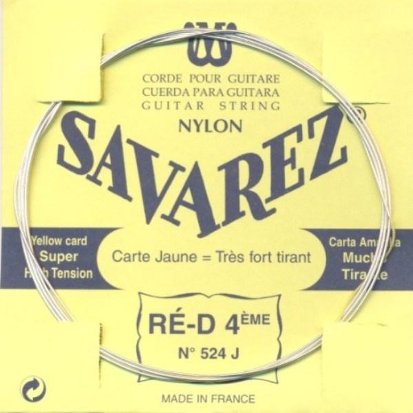 Image of   Savarez 524J D4 løs spansk guitar-streng, gul