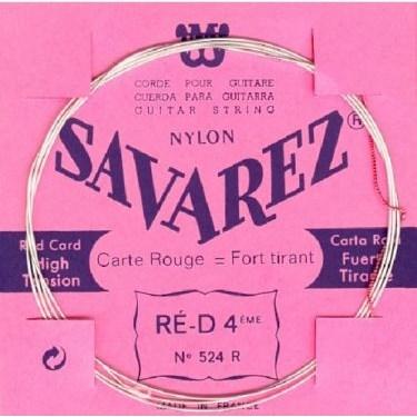 Image of   Savarez 524R D4 løs spansk guitar-streng, rød