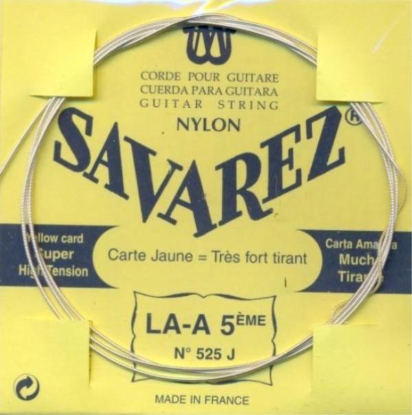 Image of   Savarez 525J A5 løs spansk guitar-streng, gul