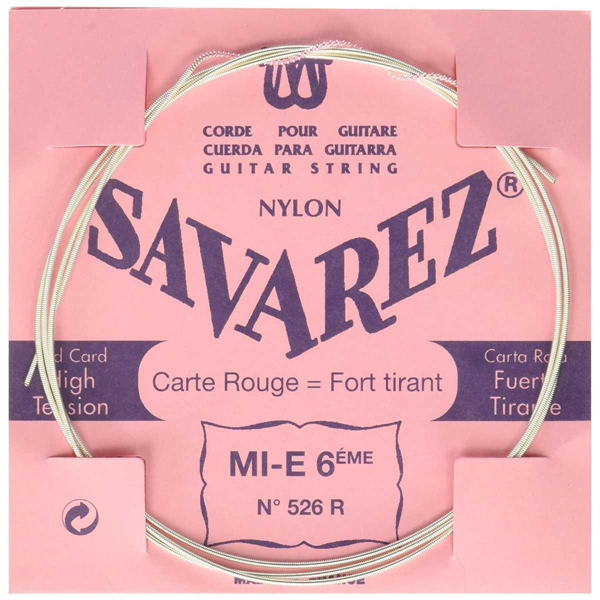 Image of   Savarez 526R E6 løs spansk guitar-streng, rød