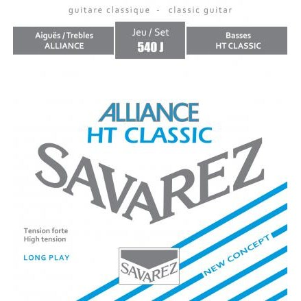 Image of   Savarez 540J Alliance High spansk guitar-strenge, rød