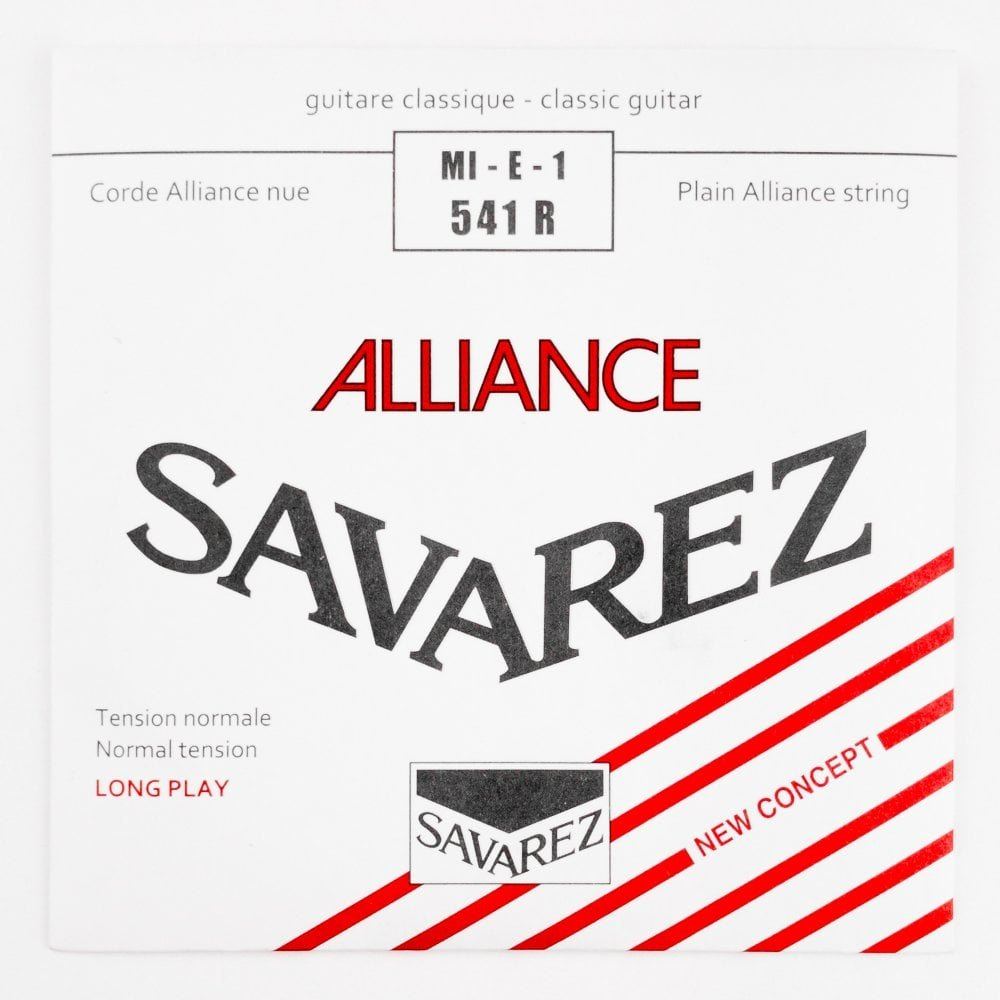Image of   Savarez 541R Alliance E1 løs spansk guitar-streng, rød