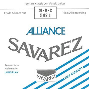 Image of   Savarez 542J Alliance H2 løs spansk guitar-streng, blå