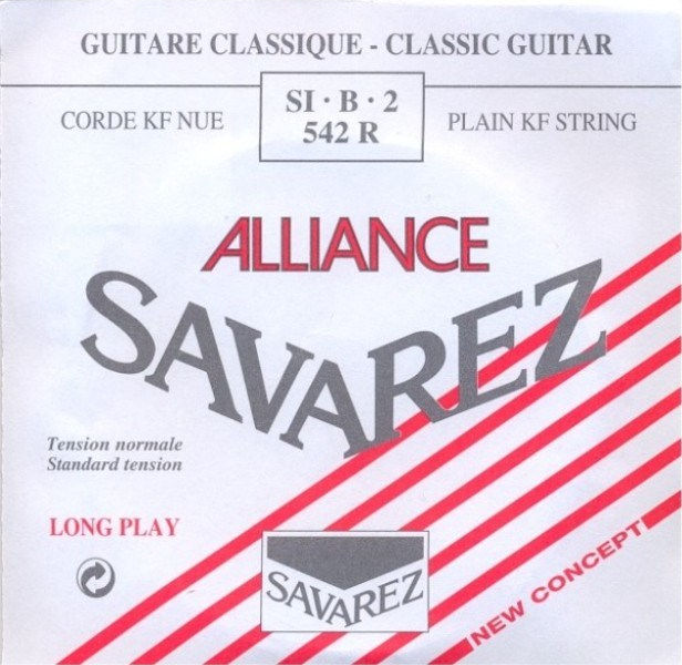 Image of   Savarez 542R Alliance H2 løs spansk guitar-streng, rød