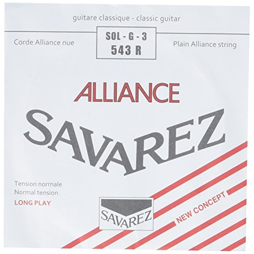 Image of   Savarez 543R Alliance G3 løs spansk guitar-streng, rød