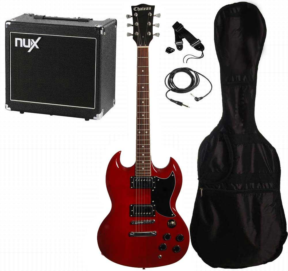 Chateau C08-SG1 el-guitar, rød, PAKKE 3